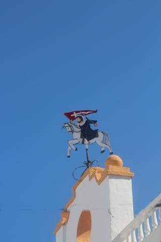 Veleta que creo que representa a Santiago con su caballo blanco