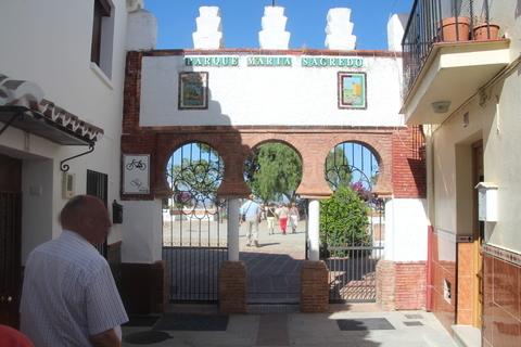 Entrada al parque de Maria Sagredo (recuerden: la heroína local)