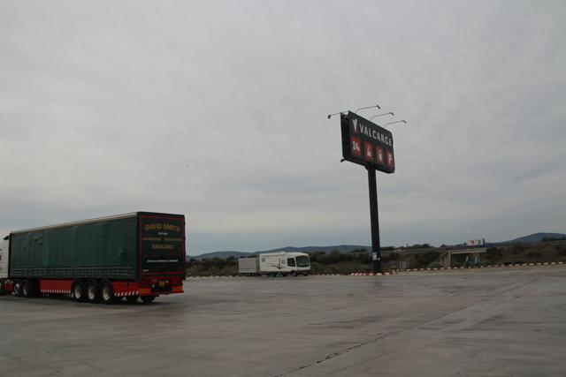 Área de servicio Valcarce, en Aldea del Cano (Cáceres).