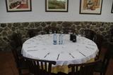 Las mesas estaban puestas.