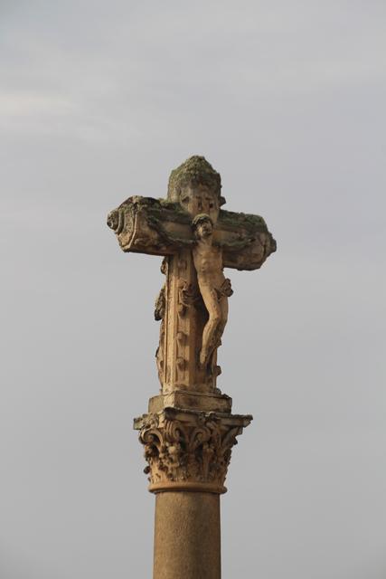 Detalle del cristo de la cruz de los ajusticiados.
