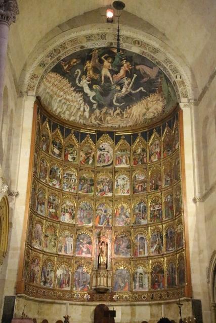 Retablo mayor Catedral de Salamanca.