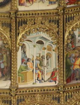 Una de las 53 tablas del retablo.