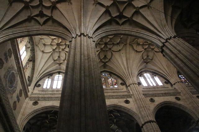 Bóveda de crucería Catedral Nueva de Salamanca.