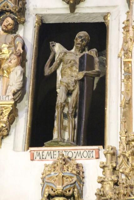 Memento Mori, en la capilla de todos los santos de la Catedral Nueva de Salamanca.