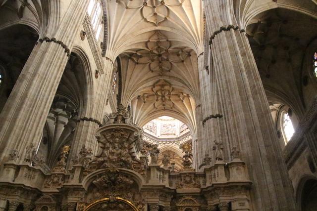 Bóvedas de crucería Catedral Nueva de Salamanca.