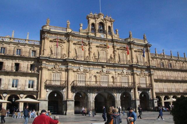 Ayuntamiento en Plaza Mayor de Salamanca.