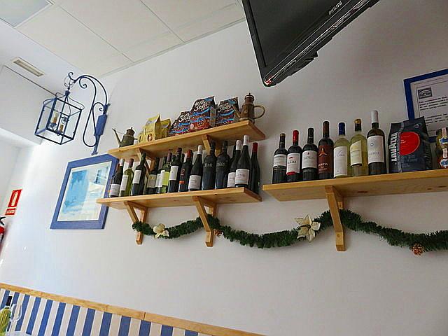 Las botellas como decoración.