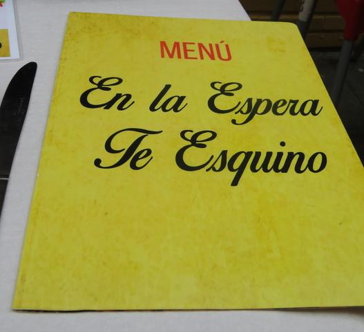 Carta Menú.