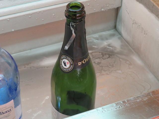 Teóricamente en el desayuno había champçan, pero solo vi la botella vacía.