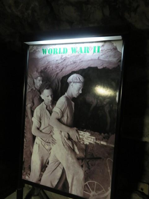 Así se excavaron estos túneles durante la Segunda Guerra Mundial.