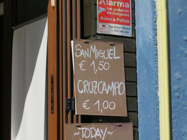 CervezA sAN mIGUEL 1€