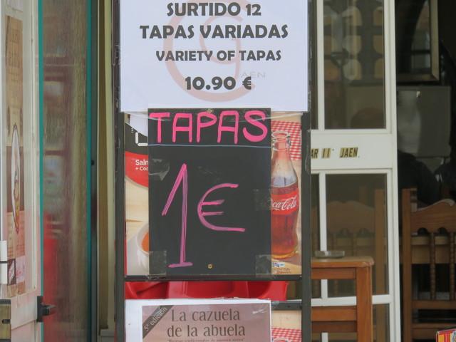 Tapas a 1€.