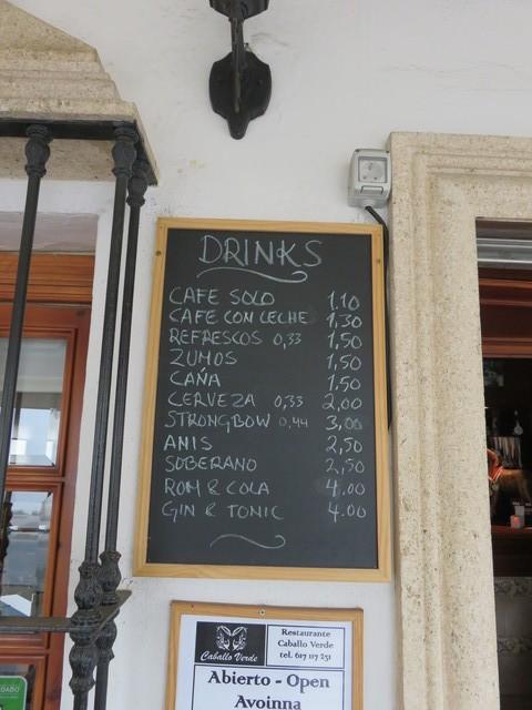 café solo: 1,10€