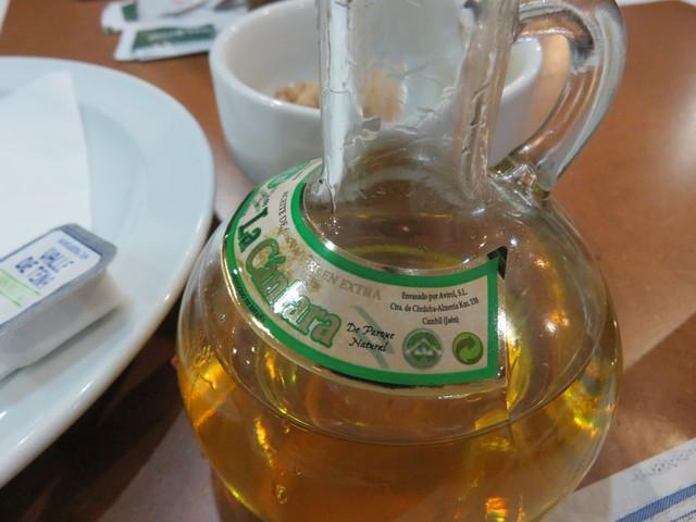 """El aceite era """"La Cántara"""" con denominación de origen de Sierra Mágina."""