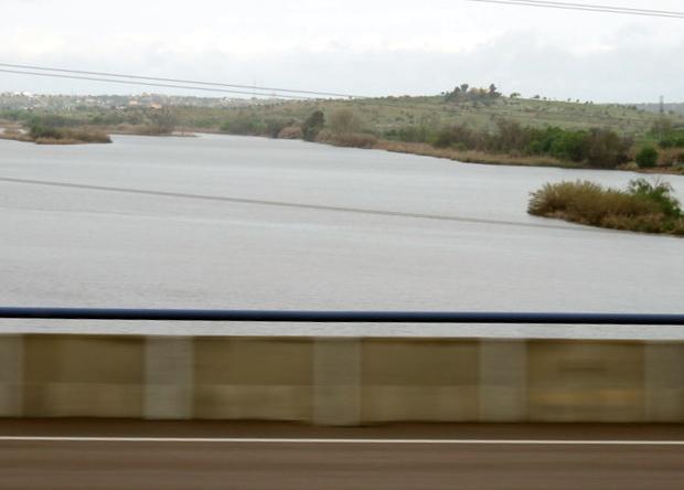 Embalse de Montijo en el río Guadiana.