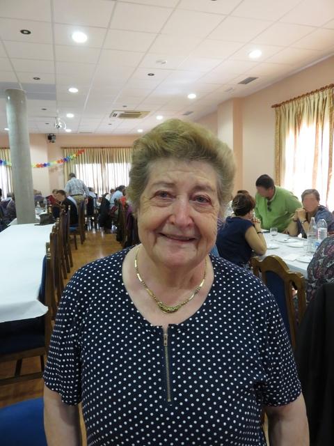 La Sra. Aurelia emocionada. (Foto publicada con su permiso).