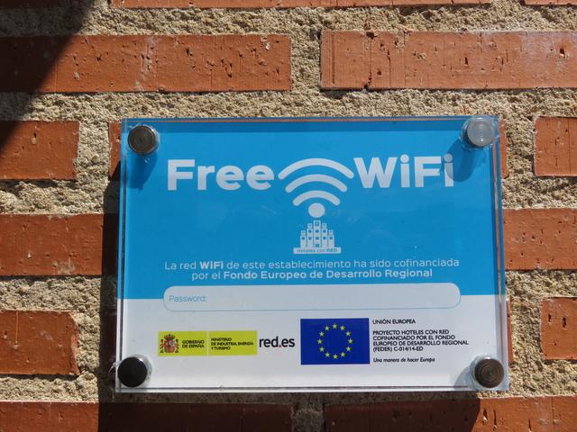 Wifi gratis financiado por la Unión Europea.