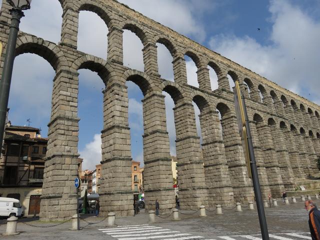 El acueducto romano de Segovia.