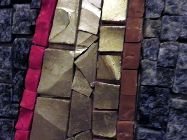 Detalle de un mosaico interior.