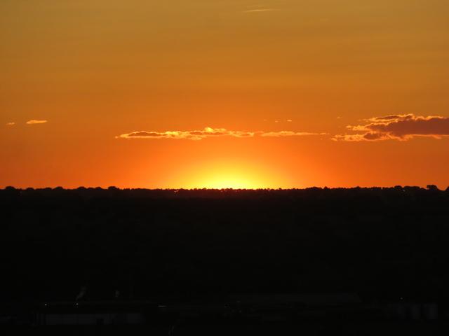 Puesta de sol desde el hotel Doña Brígida.