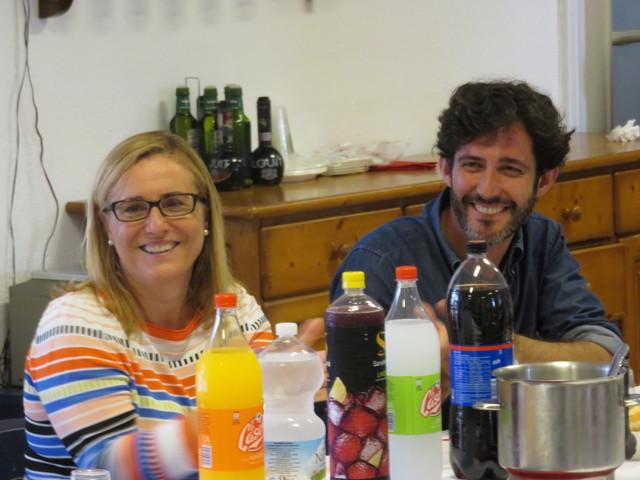 Ana Mula y Paco-Pepe con una sonrisa en la boca.