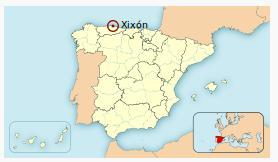 Ubicación de Gijón. Gentileza Wikipedia.