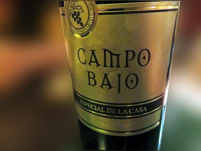 Botella de vino Campo Bajo