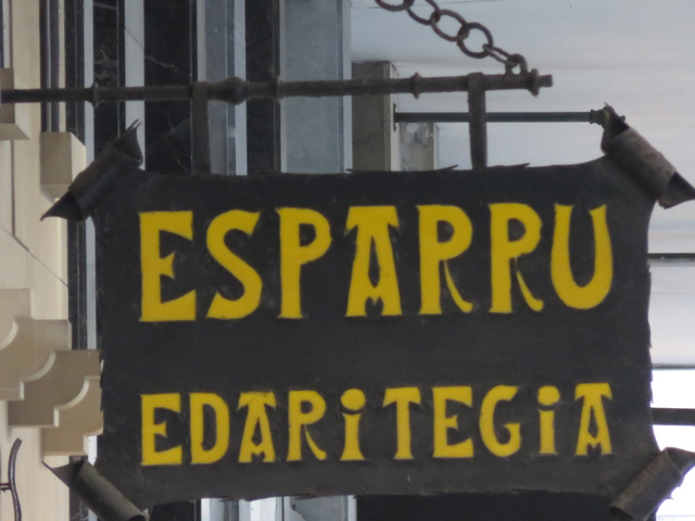 Letrero del bar Sparru