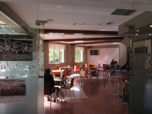 Detalle de la cafetería. Hotel Isabel Segura, Teruel
