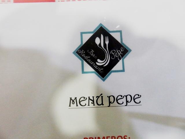 La carta del Bar Pepe