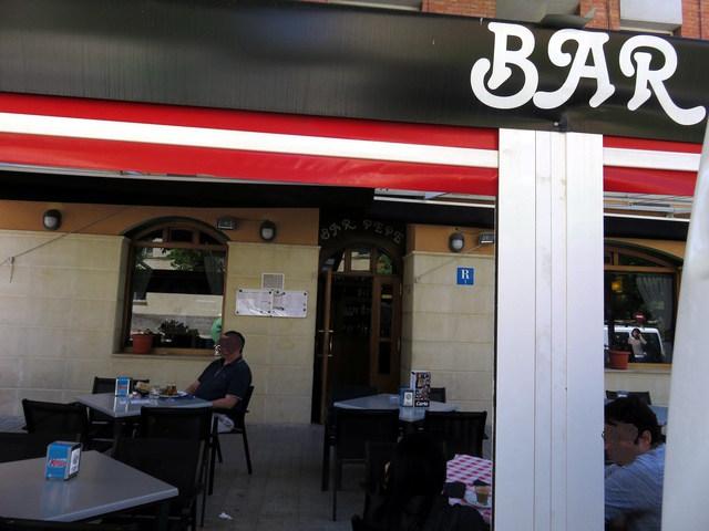 Fachada del Bar Pepe