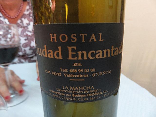 Para terminar la comida pedimos una botella de vino blanco de la mancha. ¡Excelente!