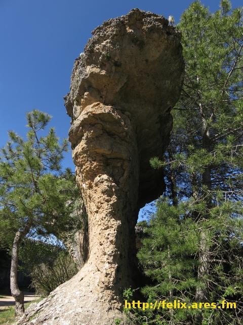 """La roca erosionada conocida como """"El Perro"""""""