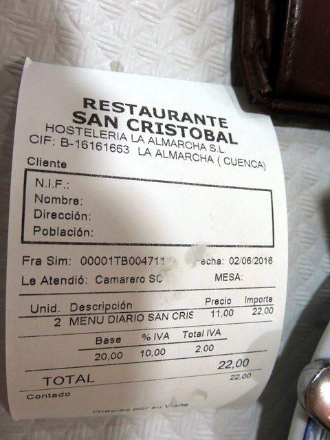 Dos menús 22€