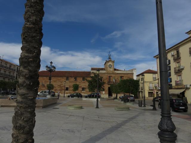 Al fondo la Iglesia de la Inmaculada y el palacio