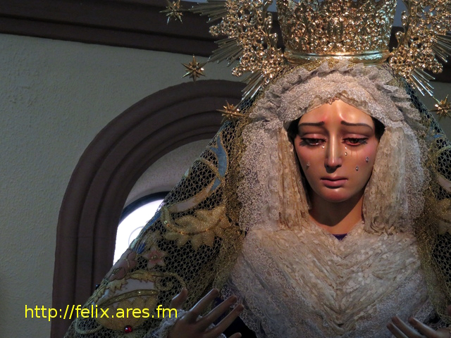 Detalle de la Virgen