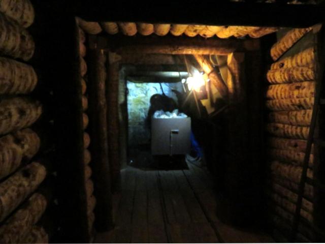 Túnel de mina simulado