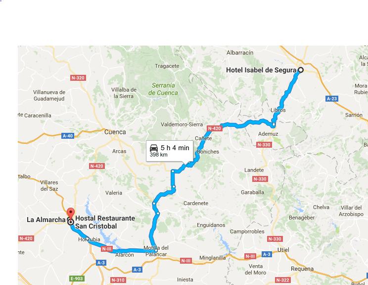 Desde Teruel hasta La Almarcha