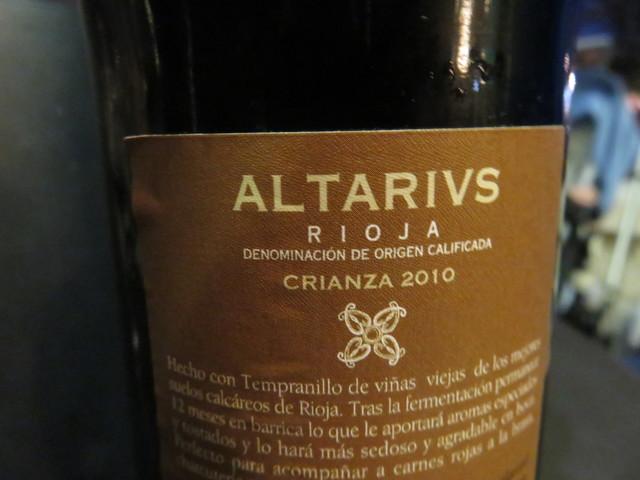 Altarius. Rioja. Crianza de 2010.