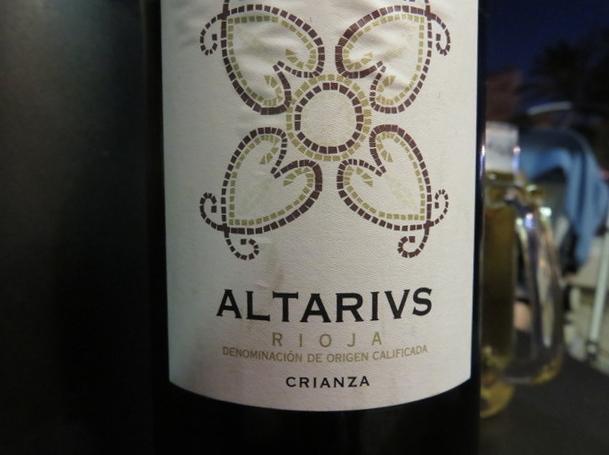Altarius. Rioja. Tempranillo. Crianza.