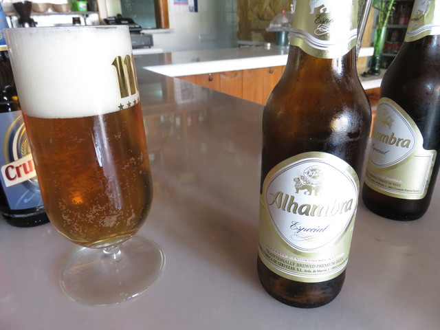 Cerveza Añhambra.