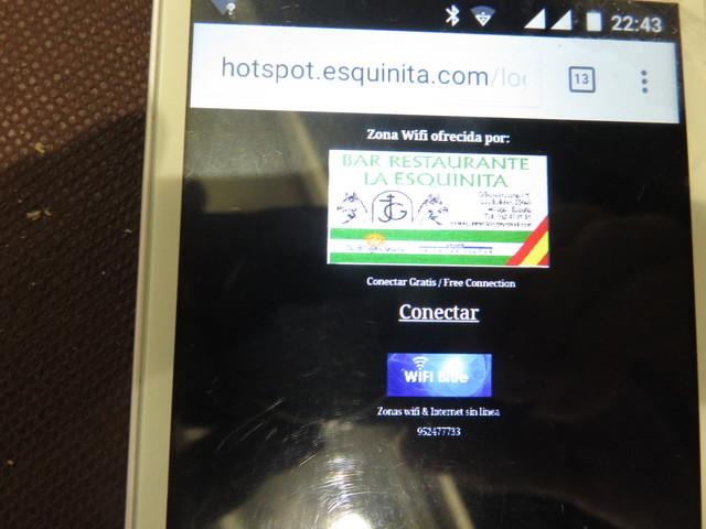 Wifi gratuito para los clientes.