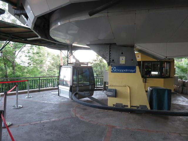 La subida a las cabinas del Teleférico.