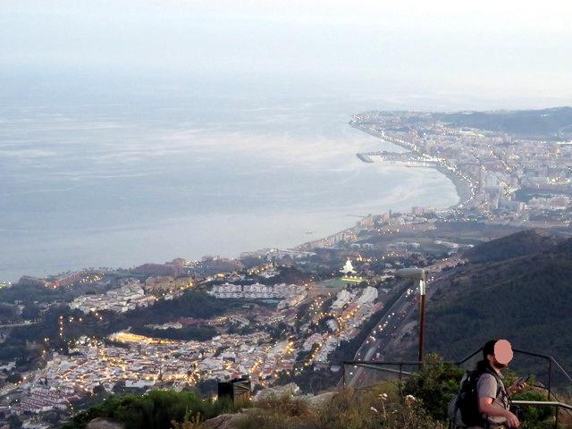 Fuengirola vista desde el monte Calamorro.