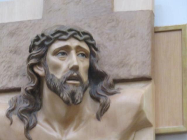 Detalle de un misterio del Vía Crucis