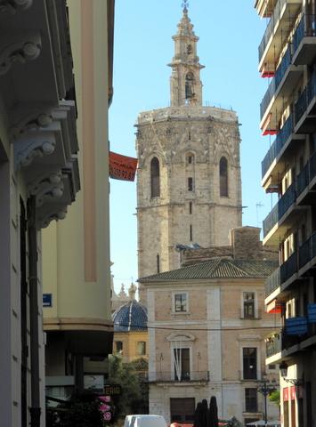 El Miguelete. Torre con campanas de la catedral de Valencia.
