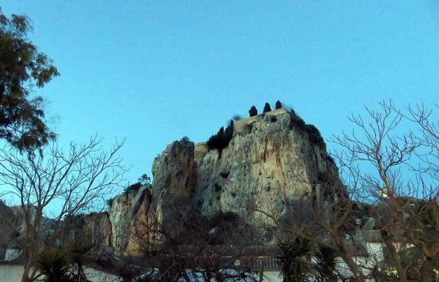 El castillo de Guadalest.