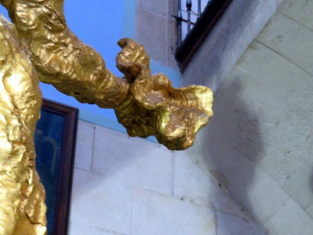 Detalle e la mano del San Juan de Dalí.