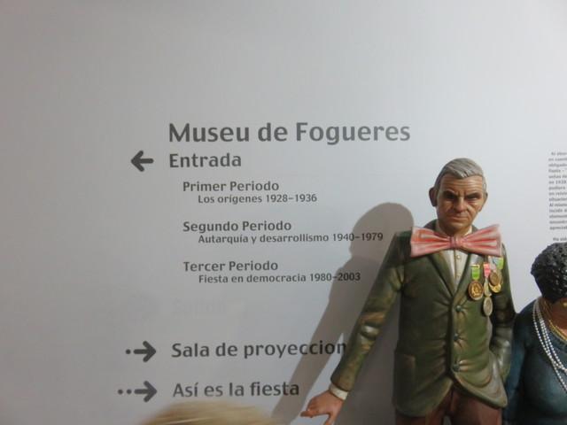 La señalización nos dice cómo visitar el museo.